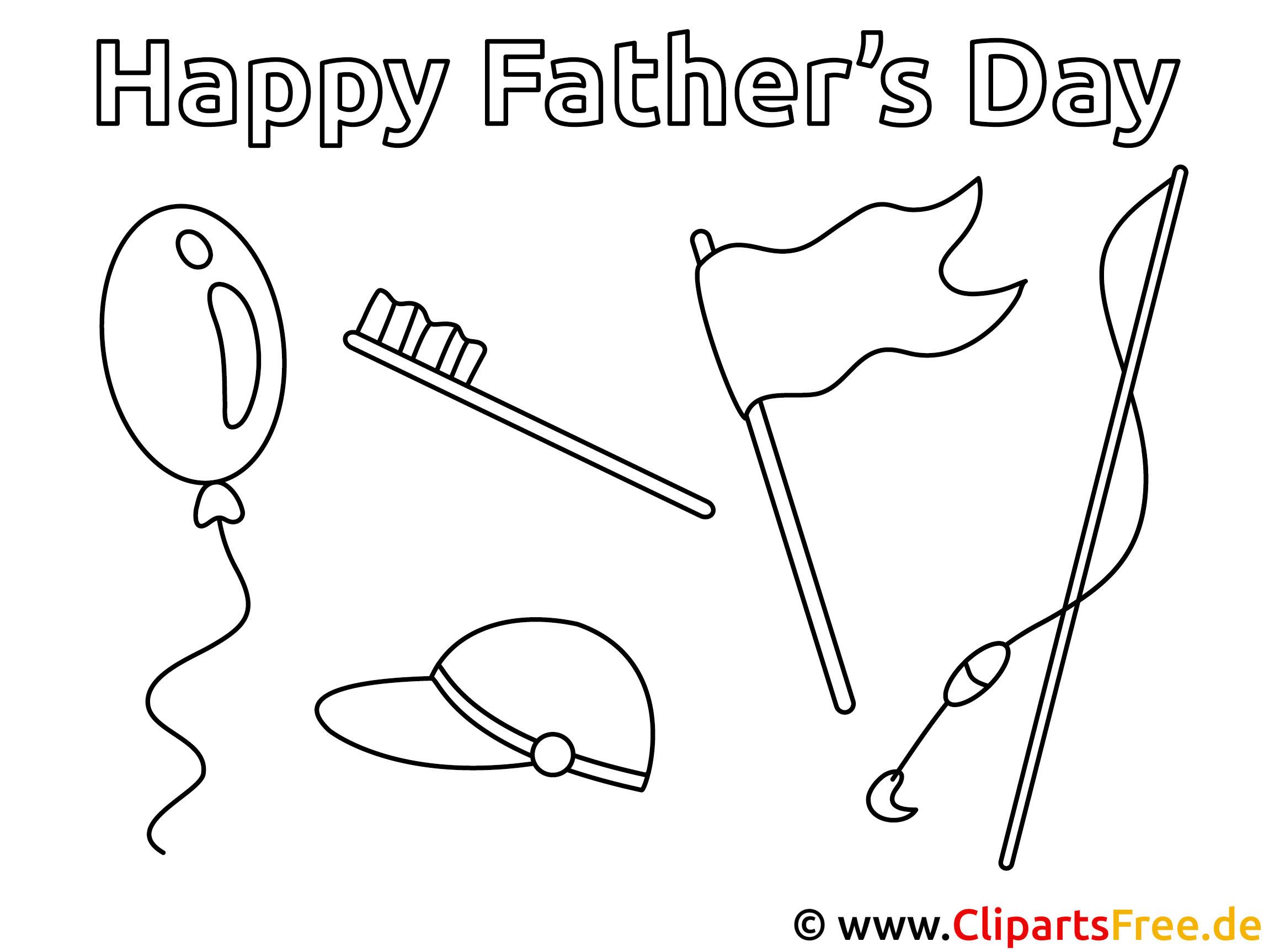 Ausmalbilder zum Vatertag - Basteln und Gestalten