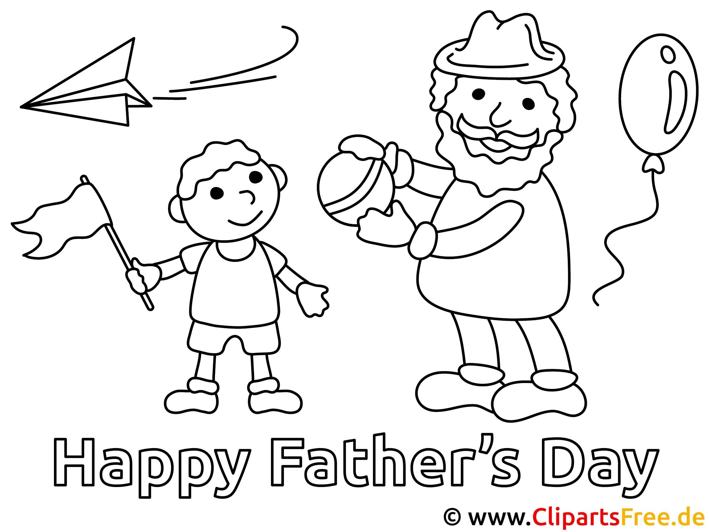 Malvorlagen Vatertag Gratis