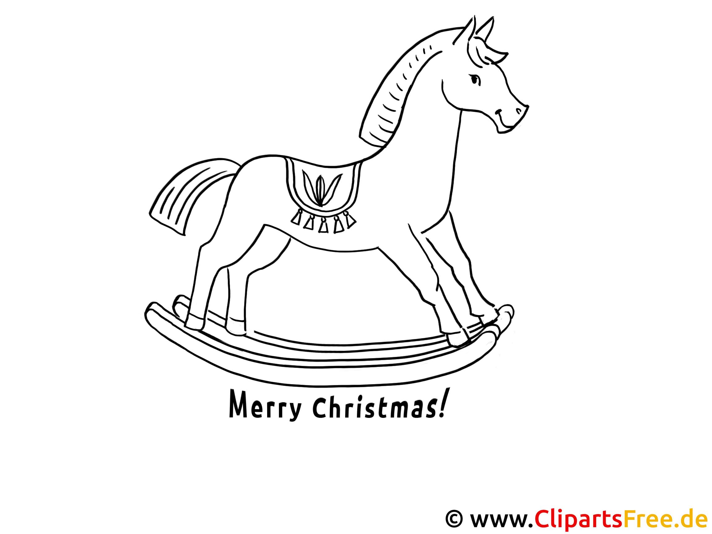 ausmalen für kinder pferd