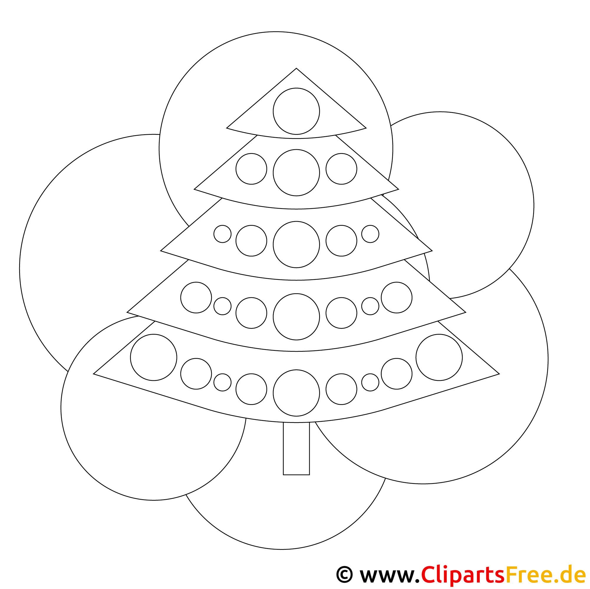 kostenloses ausmalbild zu weihnachten tannenbaum. Black Bedroom Furniture Sets. Home Design Ideas