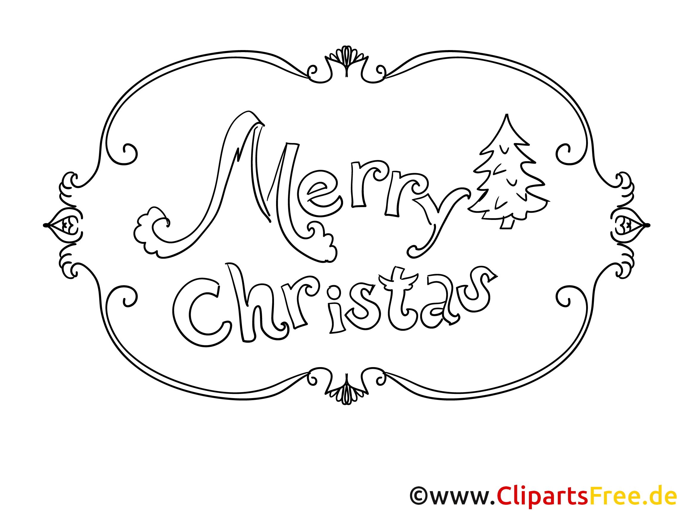 Malvorlagen Merry Christmas  Coloring and Malvorlagan