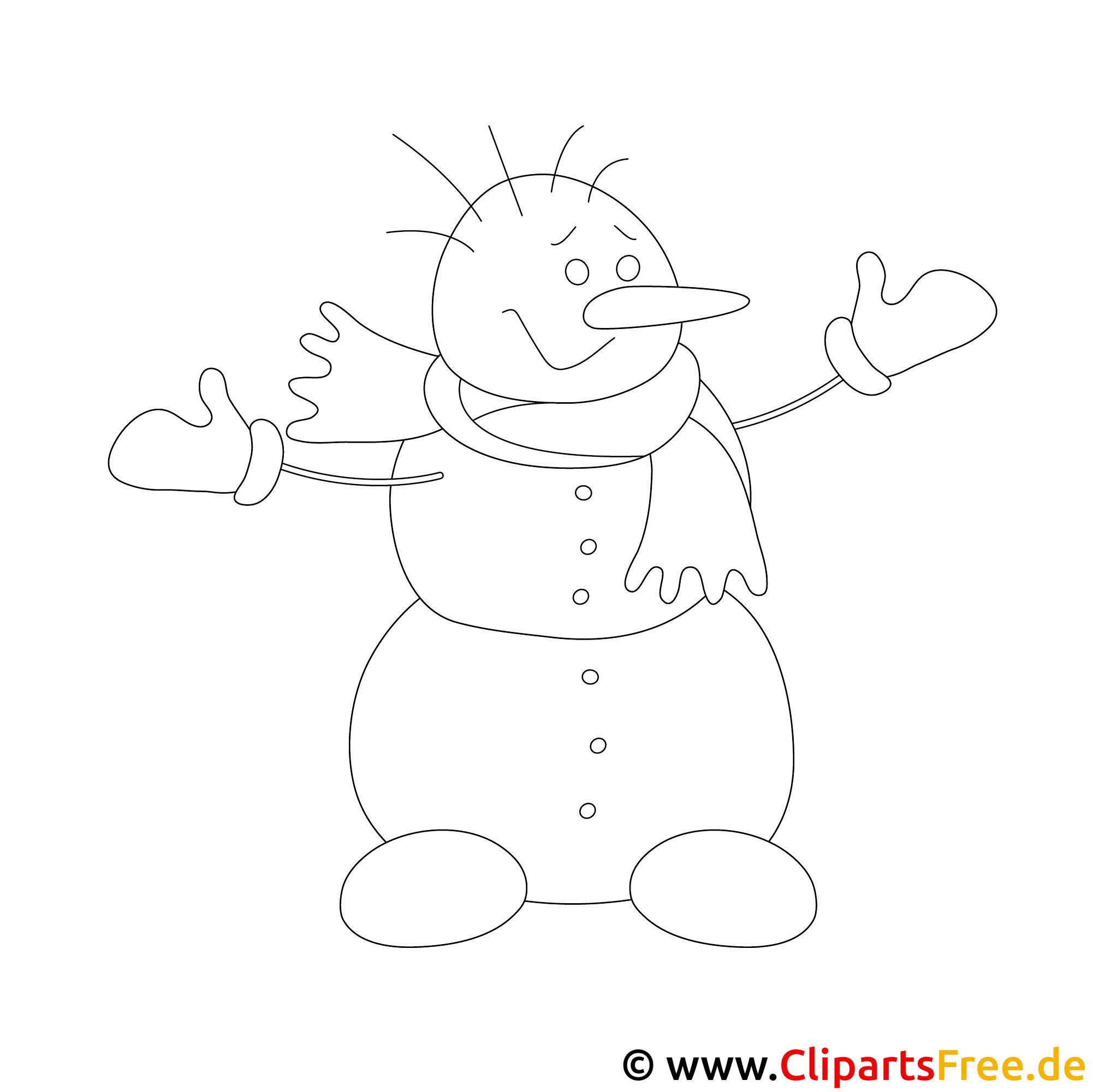 schneemann malvorlage zu weihnachten