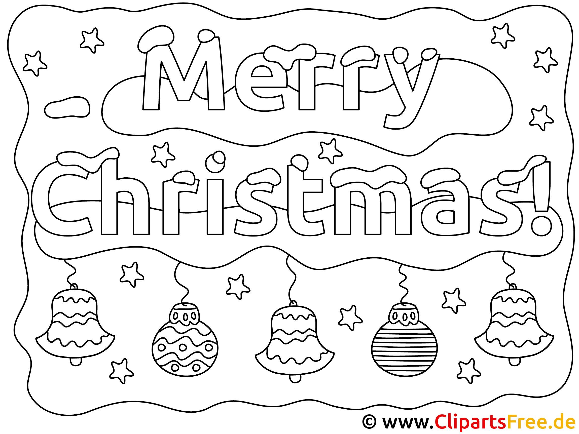 Weihnachtsbilder zum drucken und ausmalen