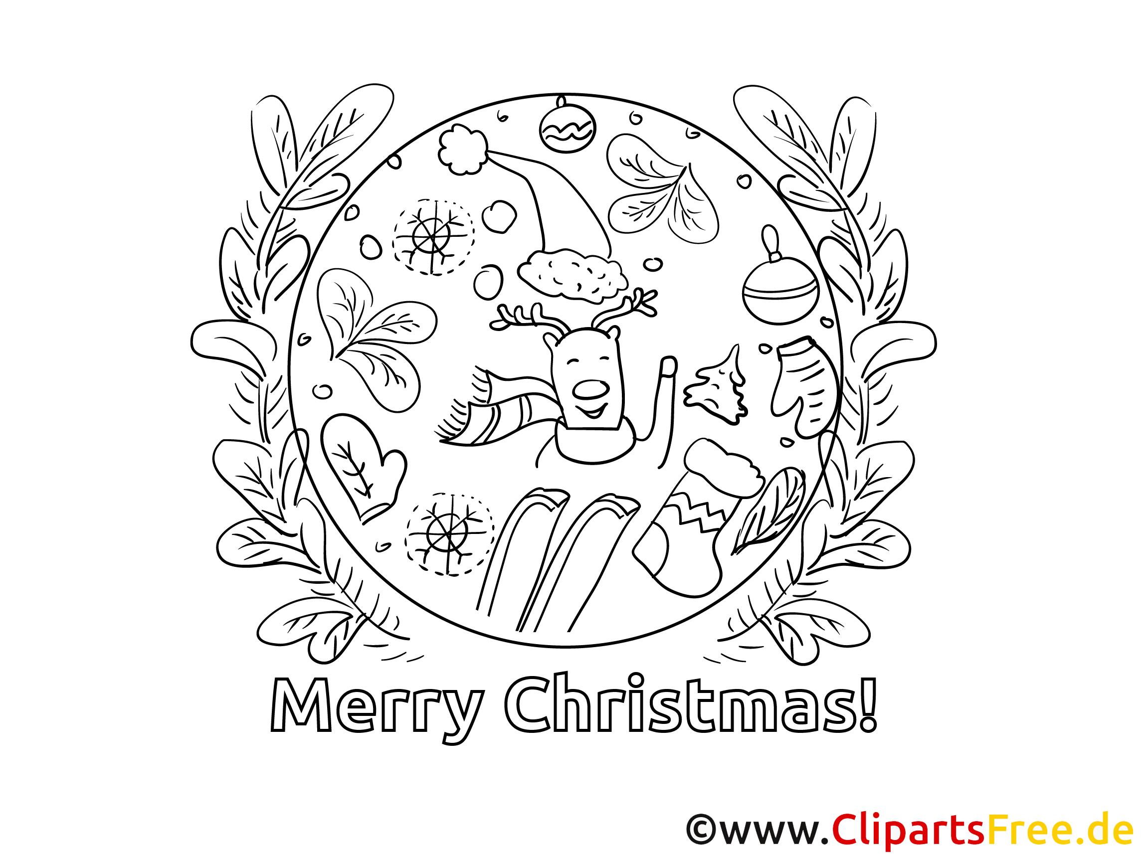 Weihnachtsausmalbild Kostenlos Drucken