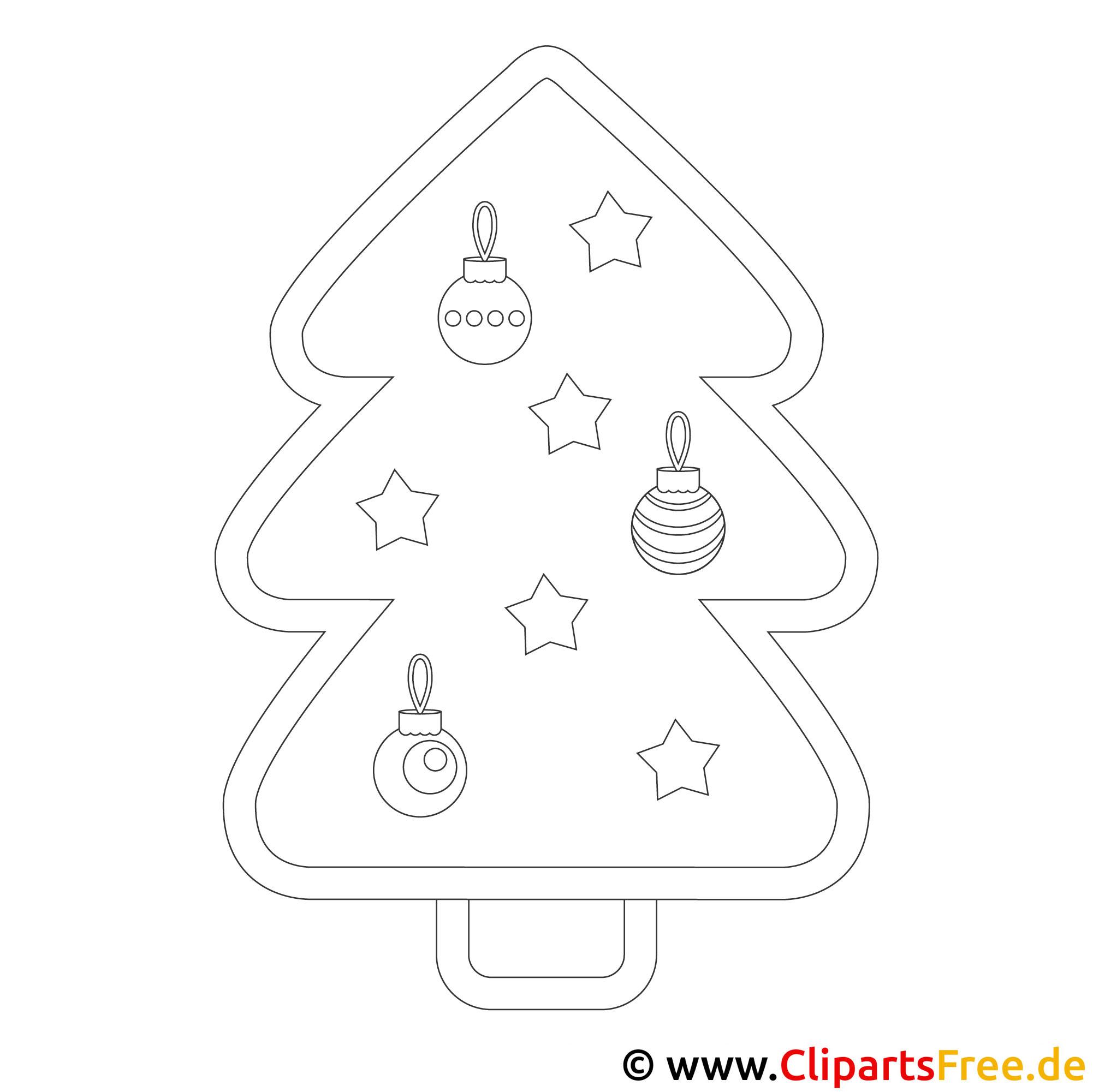 Weihnachtsbaum Windowcolor - Vorlage kostenlos