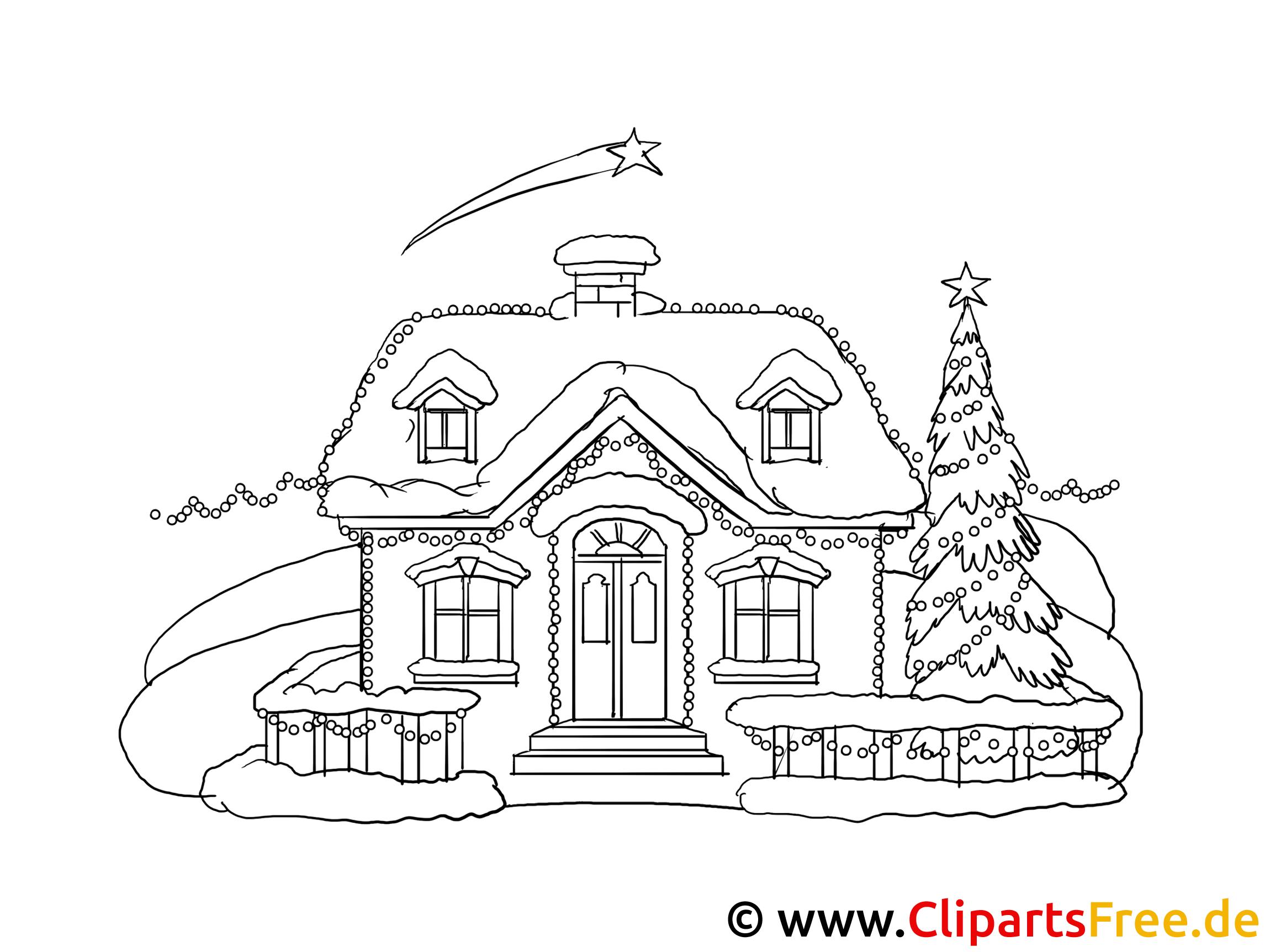 Malvorlagen Weihnachten Häuser | My blog