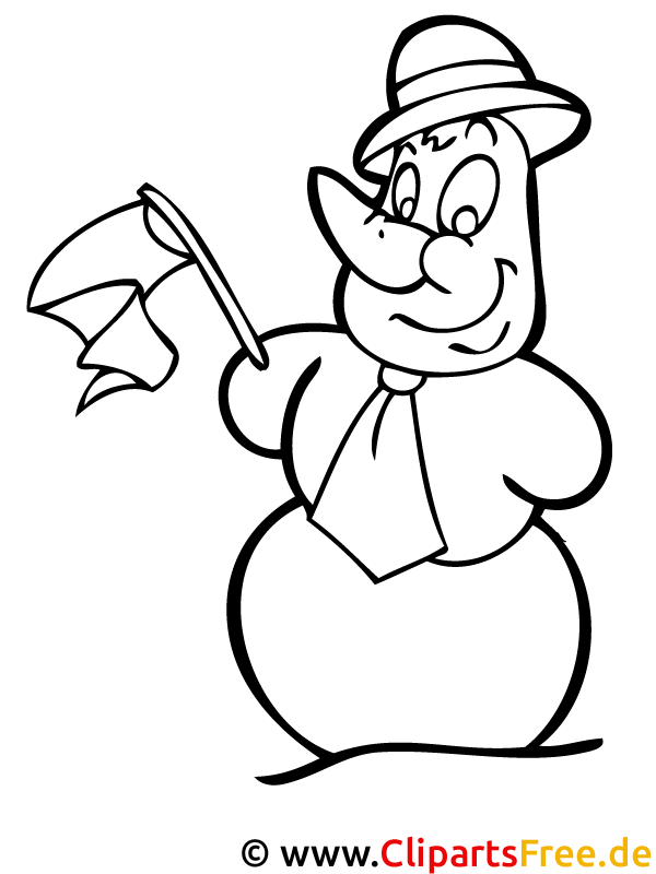 Schneemann Ausmalbild - Window Color Weihnachten