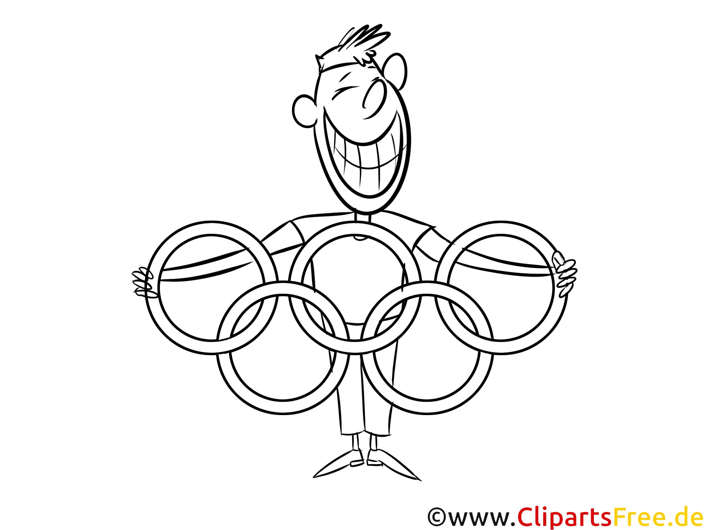 Olympische Ringe - Winter Sport Ausmalbilder