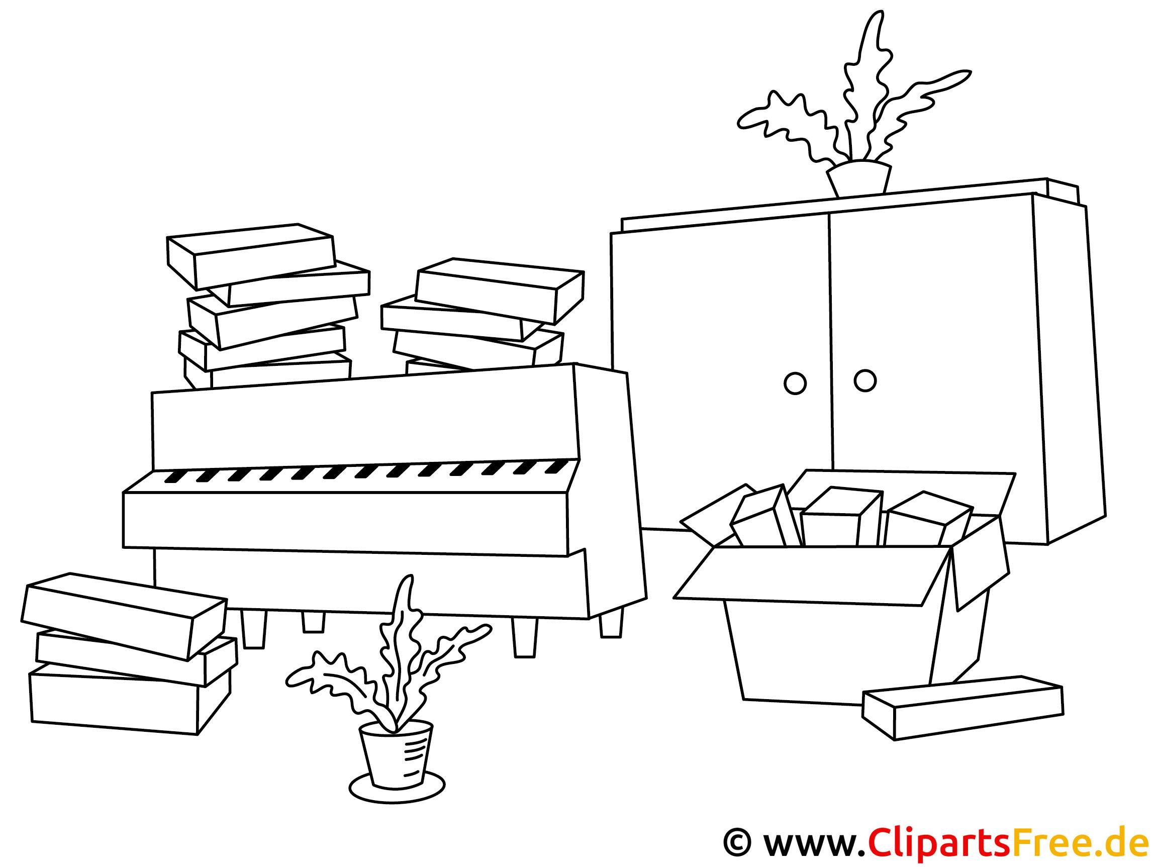 Ausmalbilder Küche Zum Ausdrucken: Möbel Ausmalbilder Zum Ausmalen