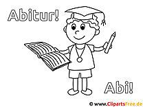 Abitur, Abi Bilder  - Schule Malvorlagen