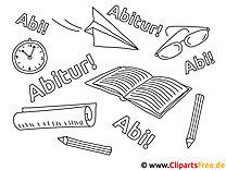 Malvorlagen Schule und Studium