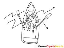 Boot Ausmalbild kostenlos