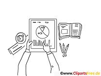 Bsuinessgrafiken Schwarz-weiss Clipart-Bilder zum Drucken und Ausmalen