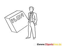 Business-Plan - Bilder zum Drucken und Ausmalen