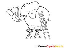 Elefant Malbuch online
