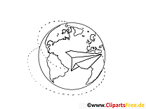 Globus Coloring Page Office Work