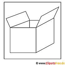 Karton Bild zum Ausmalen, Malvorlage, Ausmalbild