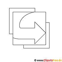 Pfeil nach Rechts Bild zum Ausmalen, Malvorlage, Ausmalbild