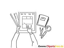 Plan Clipart-Bild zum Ausmalen