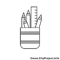 Schreibware Bild zum Ausmalen, Malvorlage
