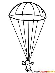 Fallschirmspringer - Kinder Malvorlagen gratis