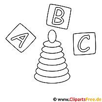 ABC Bilder-Malvorlagen zum Ausmalen