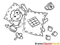 Kindergarten - Ausmalbilder zum Drucken