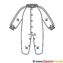 Kleidung Baby Bild zum Ausmalen