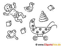 Mal-Vorlage Kinder und Baby
