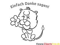 Ausmalbild Löwe Dankesbilder kostenlos ausmalen