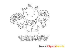 Blumen Katze Ausmalbilder kostenlos zum ausdrucken