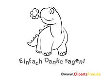 Dinosaurier Ausmalbilder Dankworte zum Drucken