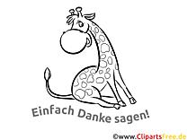 Giraffe Dankeskarte selber drucken