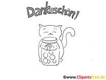 Lebensmittel Katze Ausmalbilder zum Thema Danke