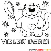 Lustige Malvorlagen mit Katzen, Luftballons u.v.m.