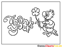 Papagei Dankeskarte selber drucken