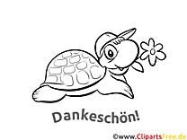 Schildkröte Ausmalbilder Dankworte zum Drucken