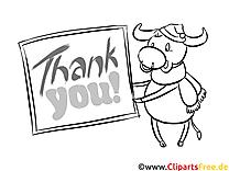 Thank You Ausmalbild Kuh