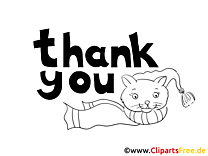 Thank You Card to print and color