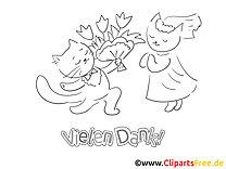 Wiedersehen Katze Ausmalbilder zum Thema Danke