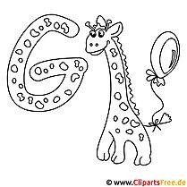 Buchstaben zum Ausmalen - Englisches Alphabet