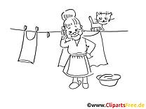 Ausmal Oma und Wäsche