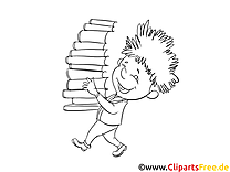Ausmalbilder zum Ausdrucken Kind mit Büchern