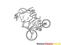 Bike fahren Bilder, Malvorlagen, Grafiken zum Drucken und Ausmalen