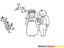 Brautpaar Ausmalbild