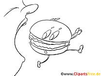 Burger Bilder, Malvorlagen, Grafiken zum Drucken und Ausmalen