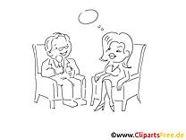 Gespräch Ausmalvorlagen kostenlos