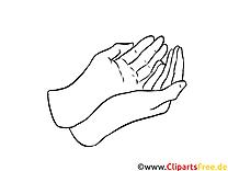 Hände zusammen Ausmalbild