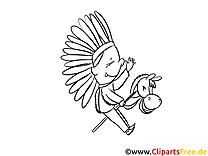 Kleiner Indianer Bilder, Malvorlagen, Grafiken zum Drucken und Ausmalen