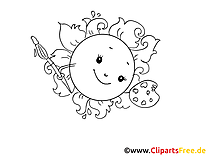 Lustige Sonne Malvorlage kostenlos